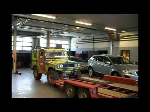 How to drive a Daihatsu Taft on the trailer