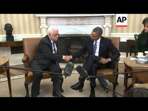 President Barack Obama and Palestinian President Mahmoud Abbas sat down to lay groundwork for a comp