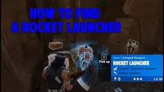 Fortnite Battle Royale - How to find Rocket Launcher/RPG as first weapon!