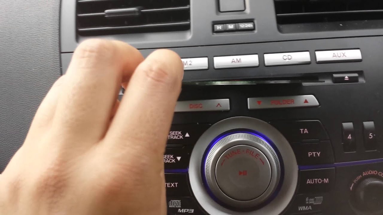 How To Insert Disc Cd Mazda 3 6 Disc Stereo Cd Player