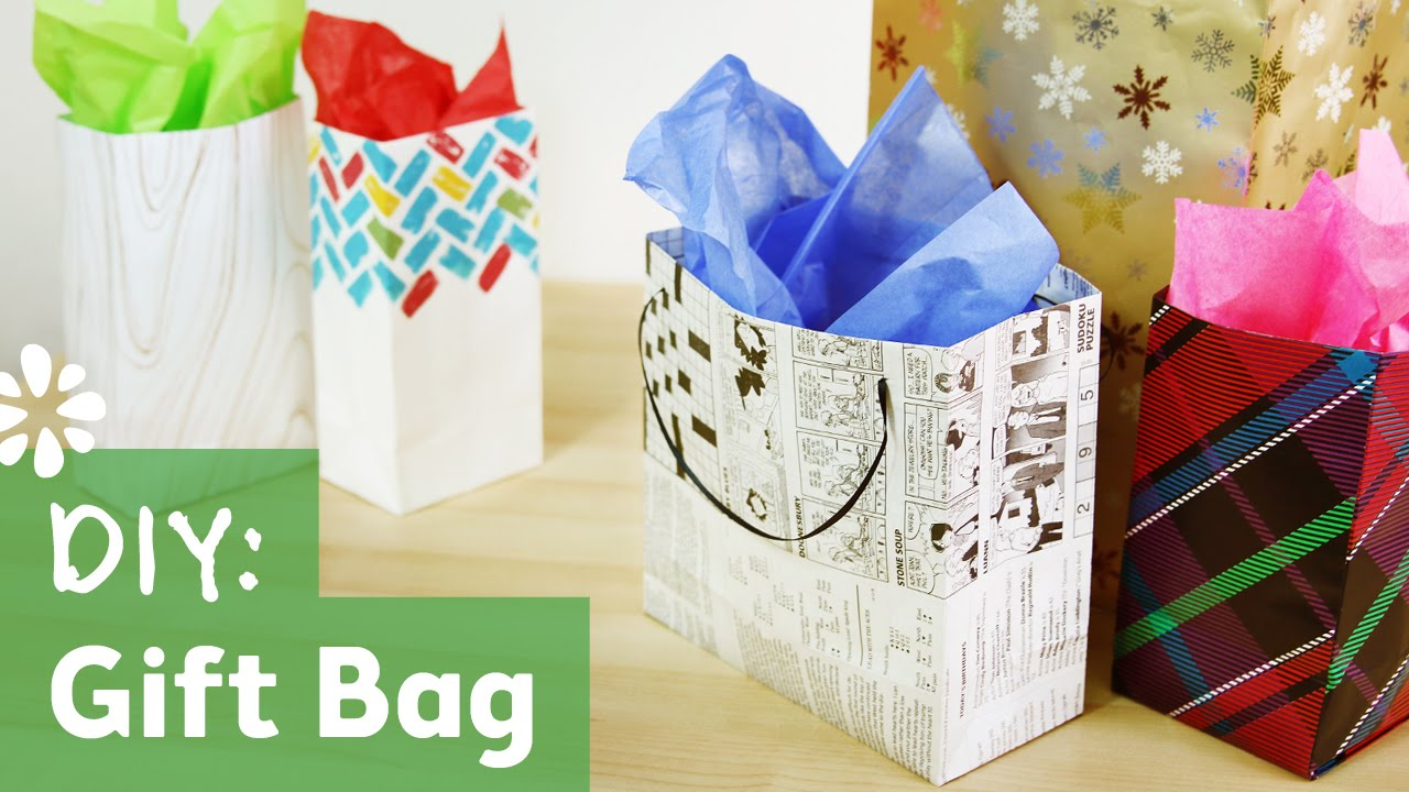 5047ac0e508 How to Make a Gift Bag | Sea Lemon - YouTube