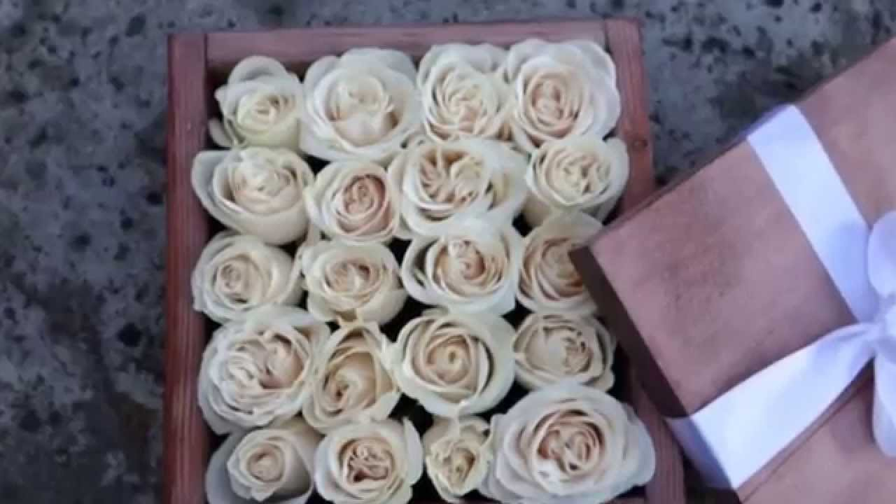 Box Of Roses, Valentines Day Flowers From Organic Flora, San Diego   YouTube