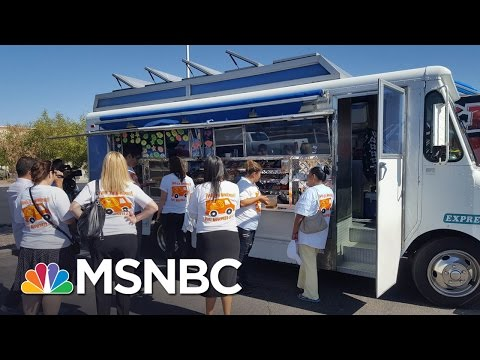 'Wall Of Taco Trucks' Outside Donald Trump Hotel | MSNBC