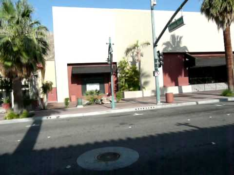 West side of Palm Canyon in Downtown Palm Springs, California