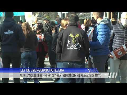 Manifestación de hoteleros y gastronómicos en el centro de Concordia