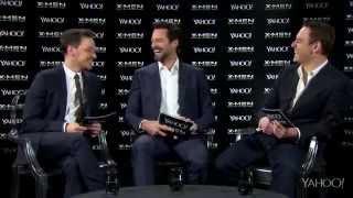 МакЭвой, Фассбендер и Джекман. Yahoo Q&A