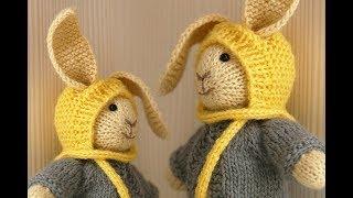 связать зайца спицами видео Goldentuberu