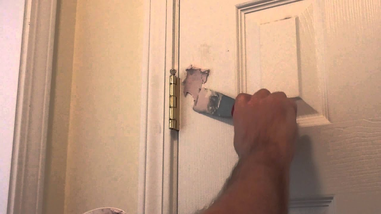 How To Repair A Hole In A Wall Or Door Youtube