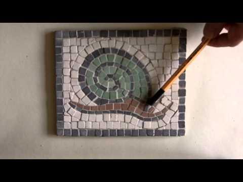 Snail from Aquileia, Roman mosaic kit