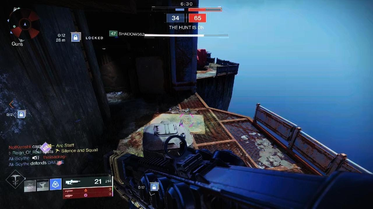 Destiny 2 shattered dived him off the map