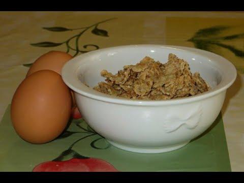 Dolce con 2 uova e dei cereali. Dolci facili e veloci. Pochi ingredienti. Ricetta LAST MINUTE.