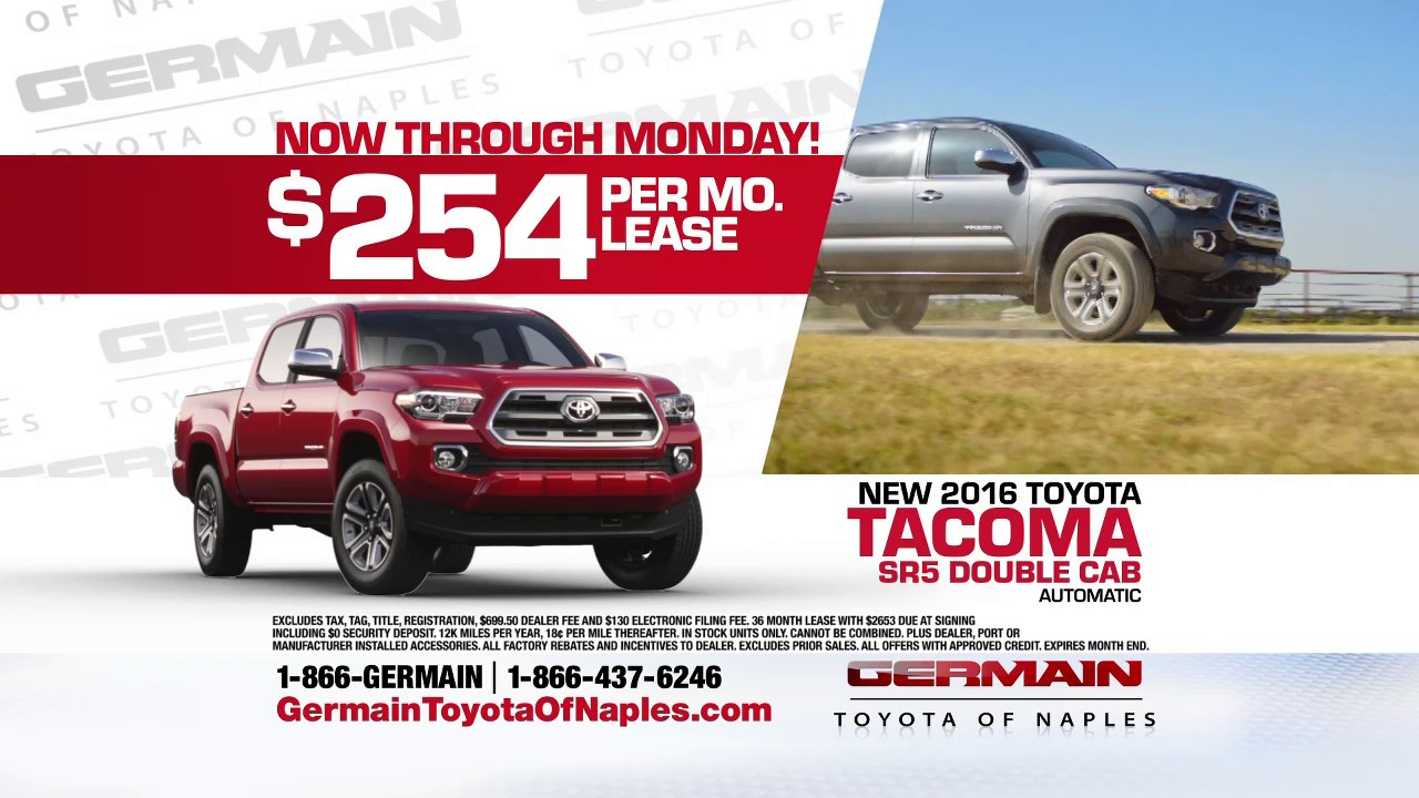Lease A 2016 Tacoma Year End Clearance Event At Germain Toyota Of Naples