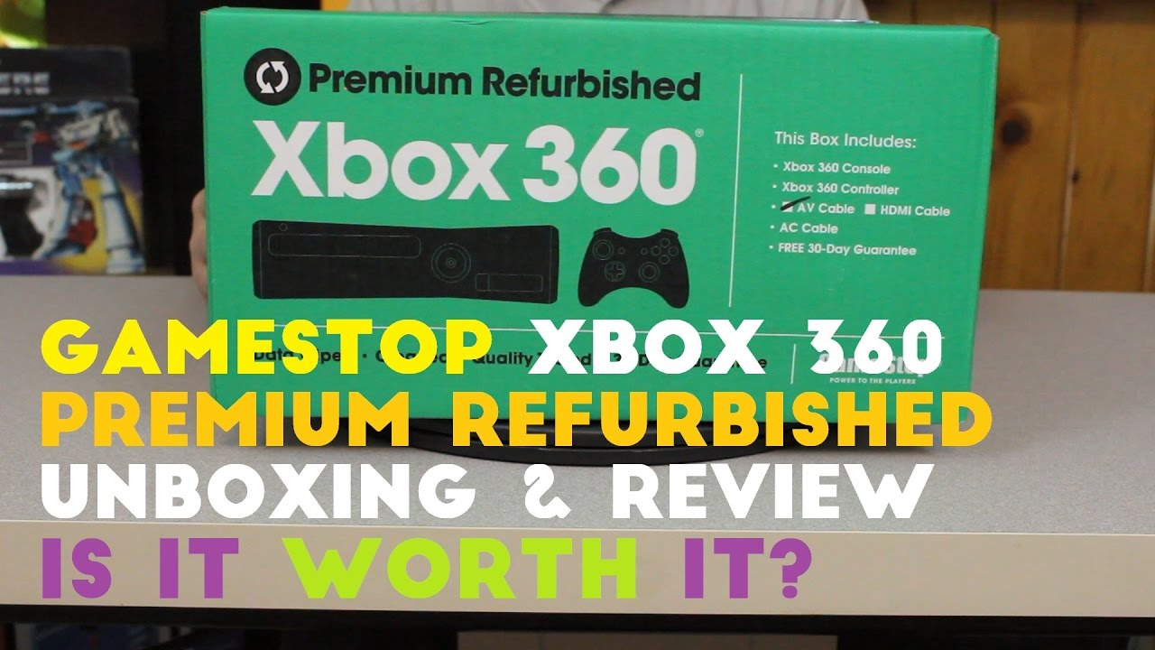 Is It Worth It? - GameStop Xbox 360 (E) Refurbished Console - Unboxing and  Review