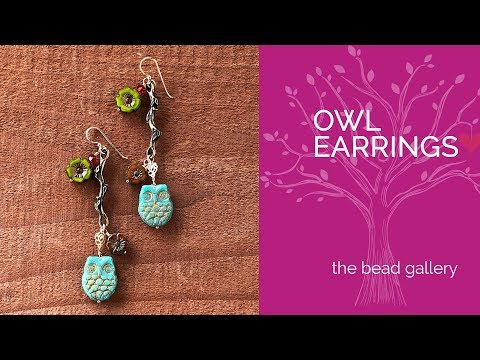 Easy Owl Earrings at The Bead Gallery