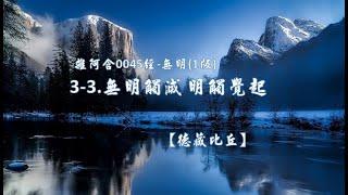 雜阿含0045經-無明(1版)3-3.無明觸滅 明觸覺起[德藏比丘]