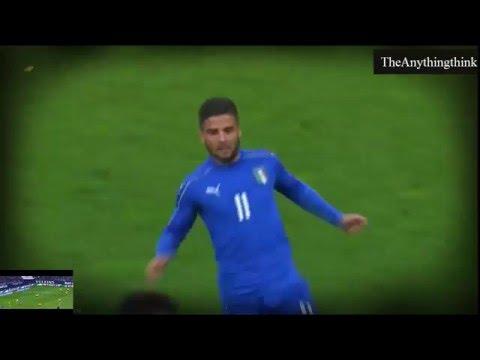 Goal Lorenzo Insigne ~ Italy 1-0 Spain ~ 24/3/2016 [Friendly Match] HD