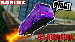 I MADE AN *INSANE* $1,000,000 STUNT BUS in Vehicle Simulator! (Roblox)