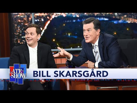 Bill Skarsgård Teaches Colbert The 'Pennywise Smile'