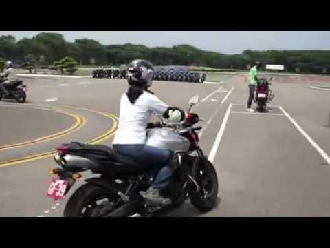 20120412新竹安駕女生大型重機考照練習yamaha 600cc by sony a 33 18-250mm - YouTube