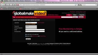 How to Create a Free GlobalMaleVideos Account