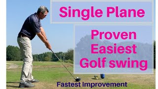 The Easiest Golf Swing to Learn - Science and Moe Prove it - Single Plane