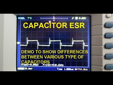Capacitor ESR visual demo using the oscilloscope