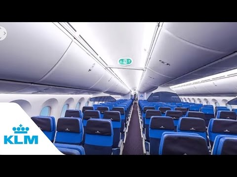 KLM Dreamliner Boeing 787 in 360 degrees
