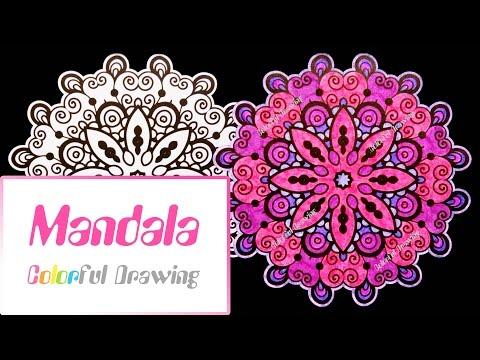 speed-coloring---coloriage-mandala-n°8-!