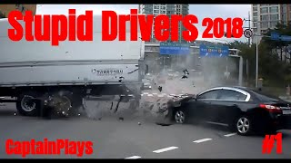 Stupid Drivers Car Crash Compilation #1[]Check Your Mirrors[] NEW 2018