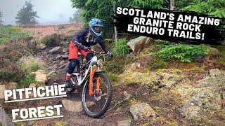 Pitfichie Forest   Scotland's amazing granite rock Enduro MTB trails