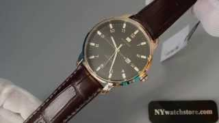 funzione amministrazione Taxi  Men's Tommy Hilfiger George Brown Leather Band Watch 1710329 - YouTube