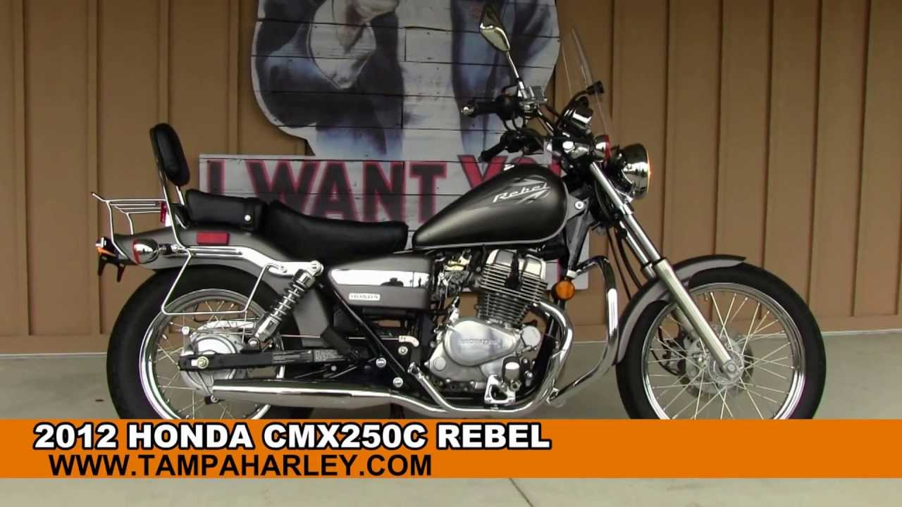 High Quality Used 2012 Honda Rebel CMX250C Motorcycle For Sale In Tampa Orlando