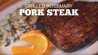 Grilled Rosemary Pork Steak | Green Mountain Grills