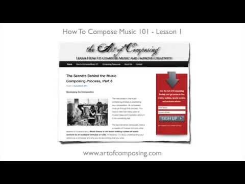 How to Compose Music - Lesson 1 - How to Write a Melody