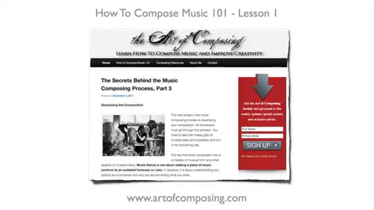How to Compose Music - Lesson 1 - How to Write a Melody - YouTube