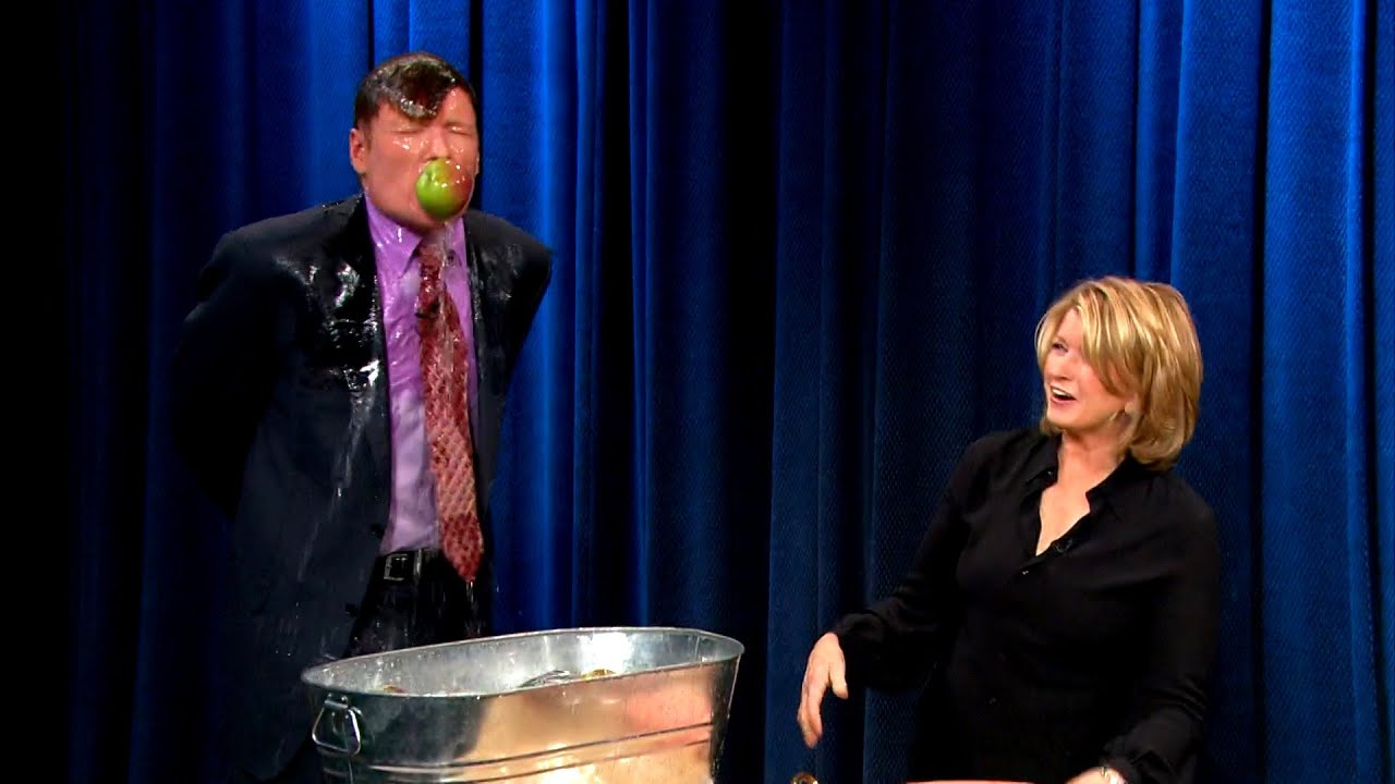 Conan Bobs For Apples With Martha Stewart | Late Night with Conan O'Brien