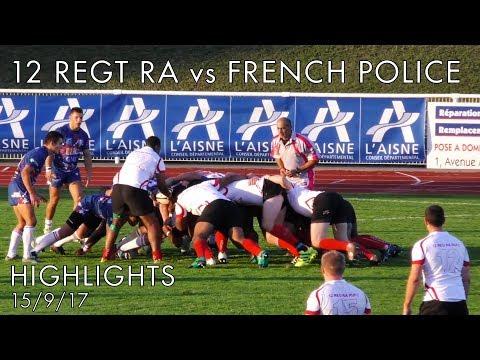 12 Regt RA vs French Police Highlights 15-9-17