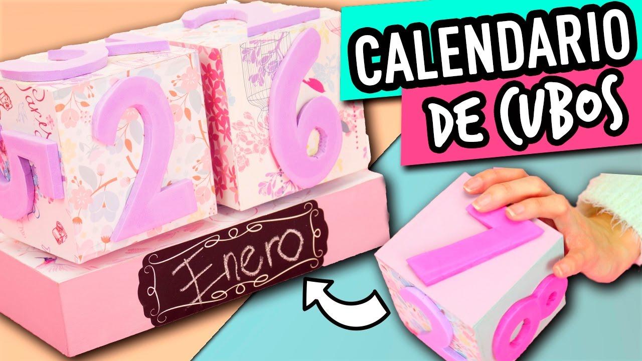 Calendario casero de cart n calendario perpetuo de cubos for Manualidades con palets paso a paso