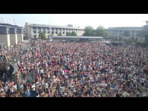 Andy Murray wins Wimbledon. Crowd reaction.