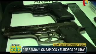 """San Juan de Miraflores: PNP desarticula banda criminal """"Los rápidos y furiosos de Lima"""""""