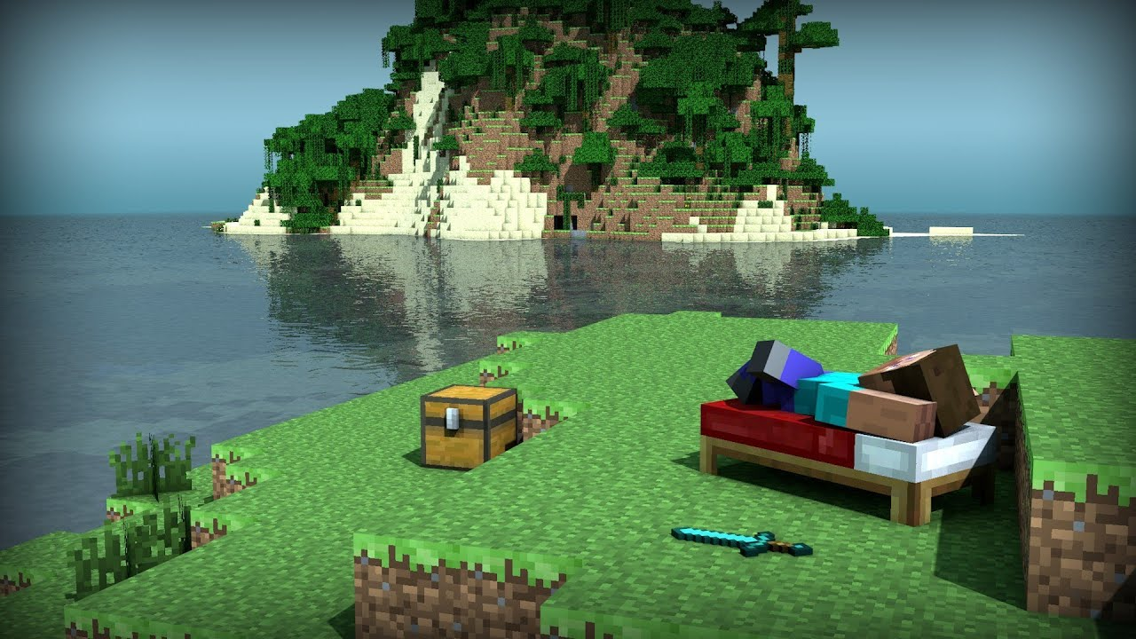 Minecraft Ma Map Jardin A La Française - YouTube