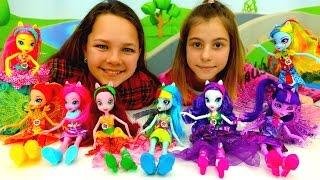 #ДевочкиИзЭквестрии -летний лагерь Эверфри с лучшими подружками Настей и Викой. Игры Эквестрия Герлз