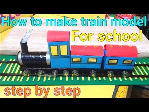 how to make train model | working train model for school project