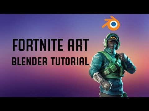 Blender Tutorial | How To Import & Texture Fortnite Characters