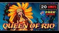 Queen of Rio - Slot Machine - 20 Lines - Bonus Game - Big Wins