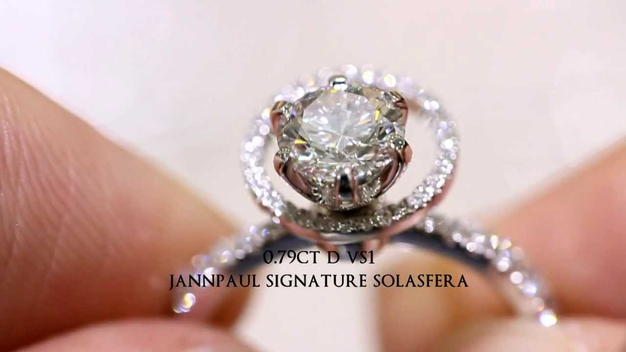 ring white p in pave tw prongs round ct scalloped rings prong htm diamond engagement gold