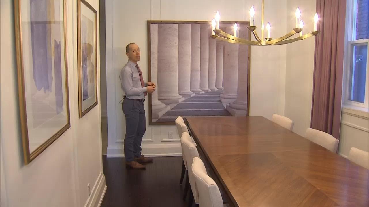 How To DIY Framed Shower Curtain Art