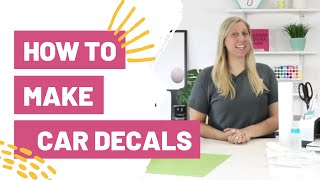 How To Make Car Decals With Cricut  - vinyl and printable
