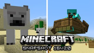 Minecraft: Flying Horses, Hover Boats, and More! (1.10 Snapshot 16w20)