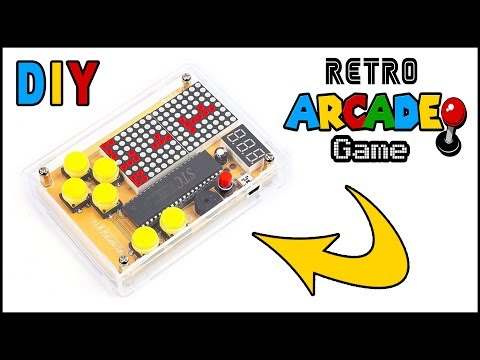Retro Arcade Game DIY With Tetris - Snake - Racing - Space Invaders By Circuit-Pop